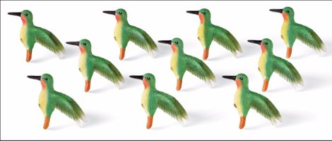 Image 3 of Hummingbird Kitchen Cabinet Drawer Pulls 10-Piece