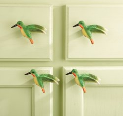 Hummingbird Kitchen Cabinet Drawer Pulls 10-Piece