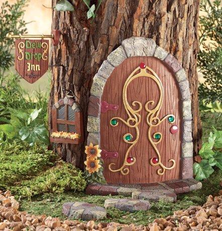 Image 0 of Gnome Garden Door Tree Decoration 6-Piece Set