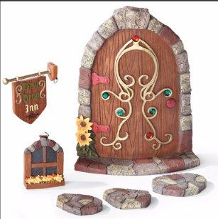 Image 1 of Gnome Garden Door Tree Decoration 6-Piece Set