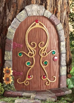 Image 2 of Gnome Garden Door Tree Decoration 6-Piece Set