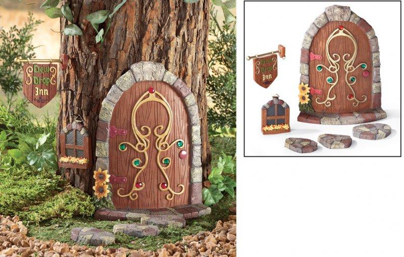 Image 6 of Gnome Garden Door Tree Decoration 6-Piece Set