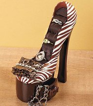 Animal Print High Heel Jewelry Holder Ceramic