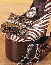 Image 1 of Animal Print High Heel Jewelry Holder Ceramic