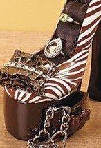 Image 3 of Animal Print High Heel Jewelry Holder Ceramic