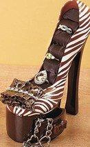 Image 4 of Animal Print High Heel Jewelry Holder Ceramic