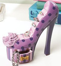 Polka Dot High Heel Jewelry Holder Ceramic