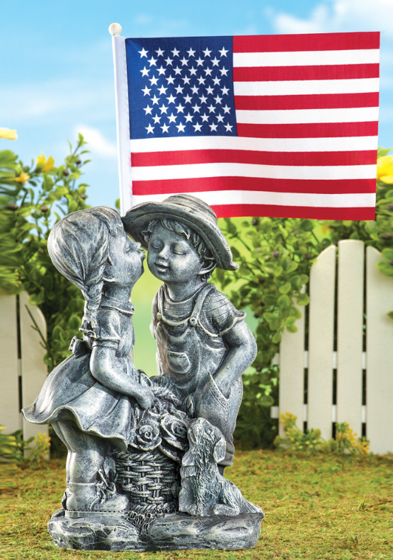 Image 0 of Patriotic Outdoor Kiss