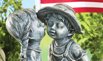 Image 3 of Patriotic Outdoor Kiss