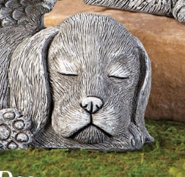 Image 1 of Winged Puppy Garden Memorial