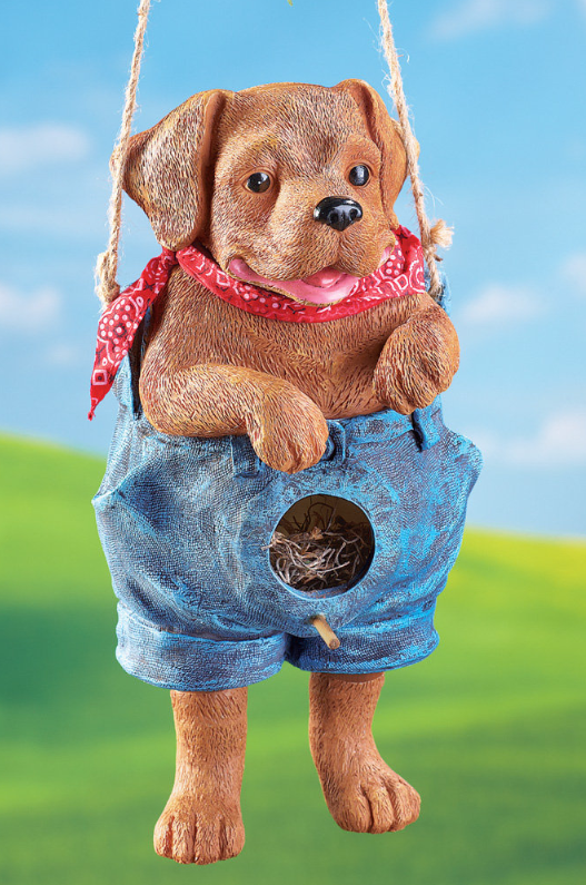 Blue Jean Puppy Birdhouse
