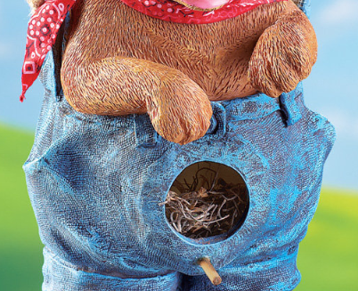 Image 2 of Blue Jean Puppy Birdhouse