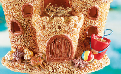 Image 1 of Resin Sandcastle Birdhouse