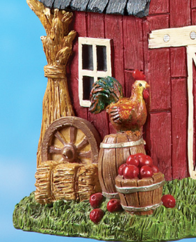 Image 2 of Country Red Barn Birdhouse