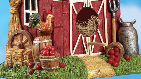 Image 3 of Country Red Barn Birdhouse