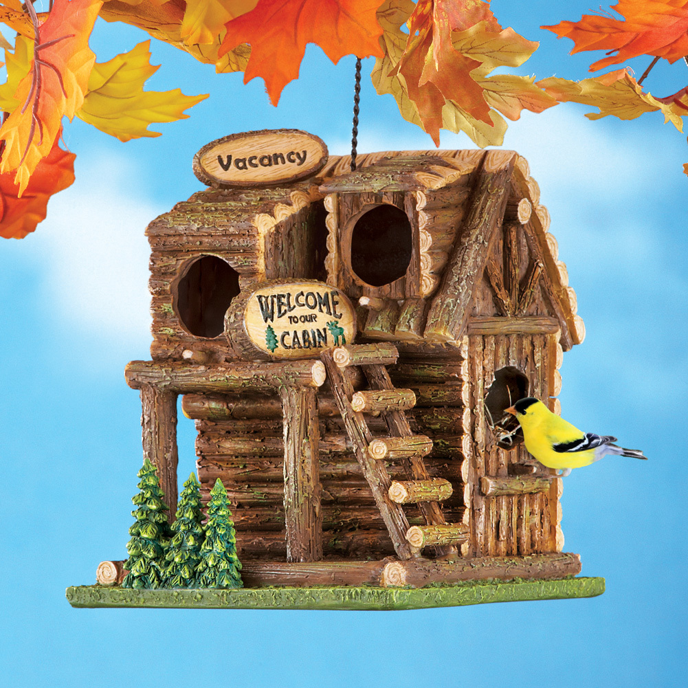 Northwoods Log Cabin Birdhouse