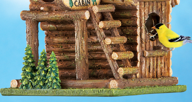 Image 3 of Northwoods Log Cabin Birdhouse
