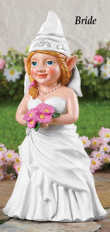 Wedding Bride Gnome