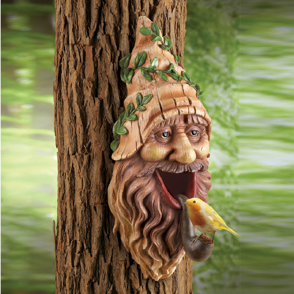 Tree Mounted Gnome Birdhouse
