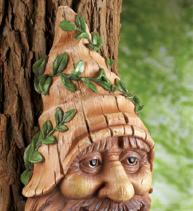 Image 1 of Tree Mounted Gnome Birdhouse