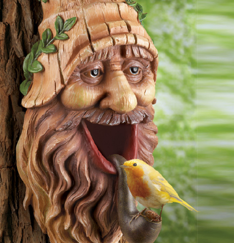 Image 2 of Tree Mounted Gnome Birdhouse