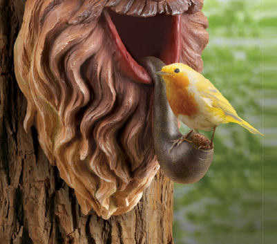 Image 3 of Tree Mounted Gnome Birdhouse