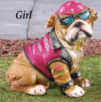 Girl Biker Bulldog