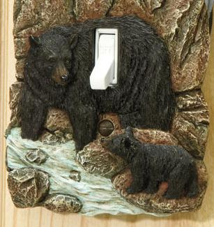 Image 1 of Rustic Switch Cover Bear