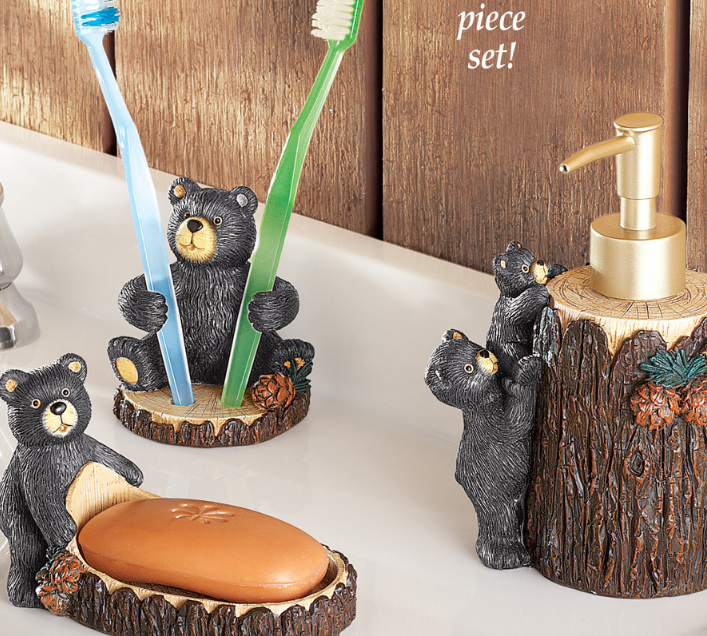 Woodland Bear Bathroom Accessories