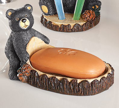 Image 1 of Woodland Bear Bathroom Accessories