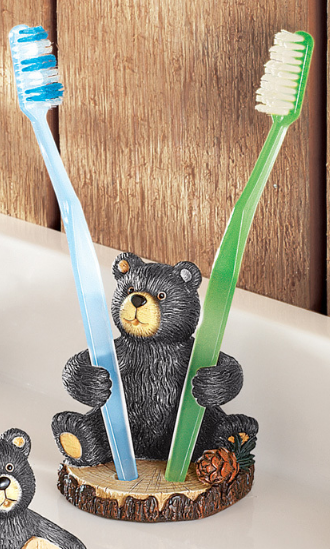 Image 2 of Woodland Bear Bathroom Accessories