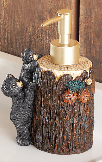 Image 3 of Woodland Bear Bathroom Accessories