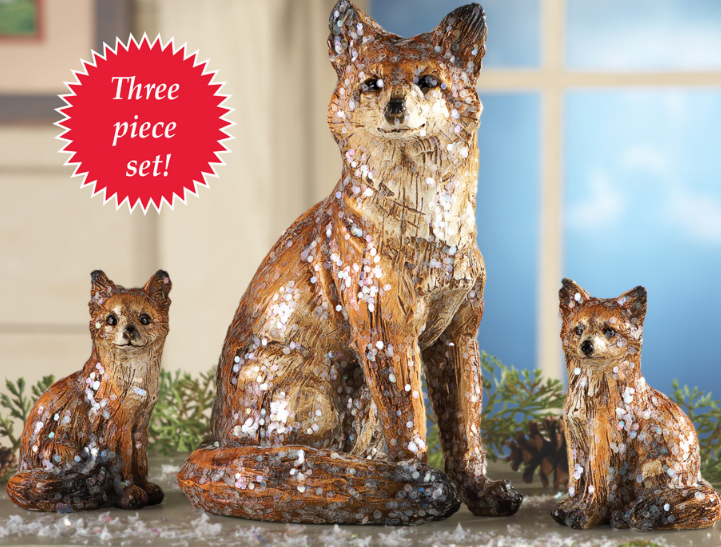 Image 0 of Tabletop Family of Foxes