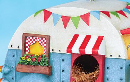 Image 3 of Caravan Camper Trailer Birdhouse