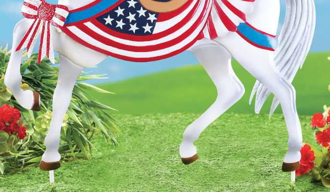 Image 1 of Patriotic Horse Stake