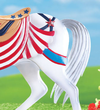 Image 2 of Patriotic Horse Stake