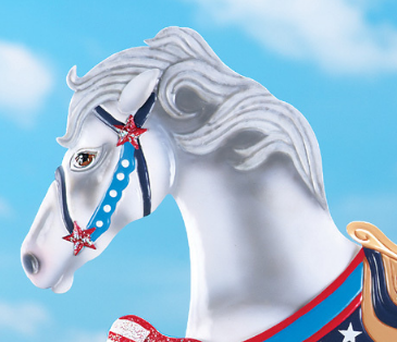 Image 3 of Patriotic Horse Stake