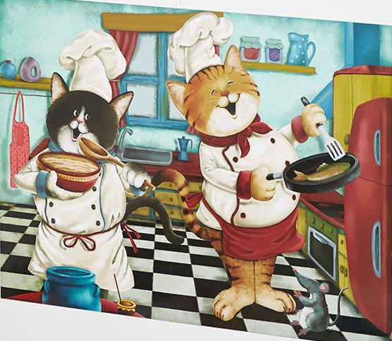 Furry Dishwasher Cat Friends Chefs