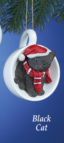 Image 2 of Holiday Santa Black  Cat