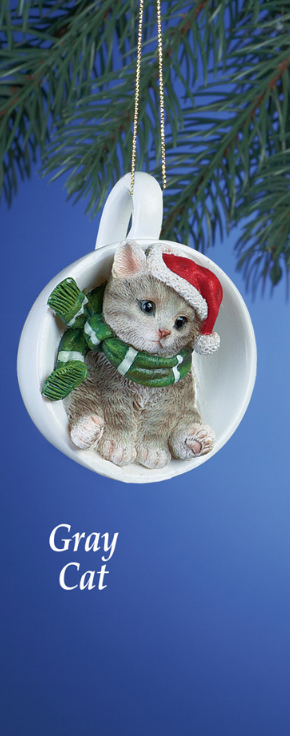 Image 1 of Holiday Santa Grey Cat