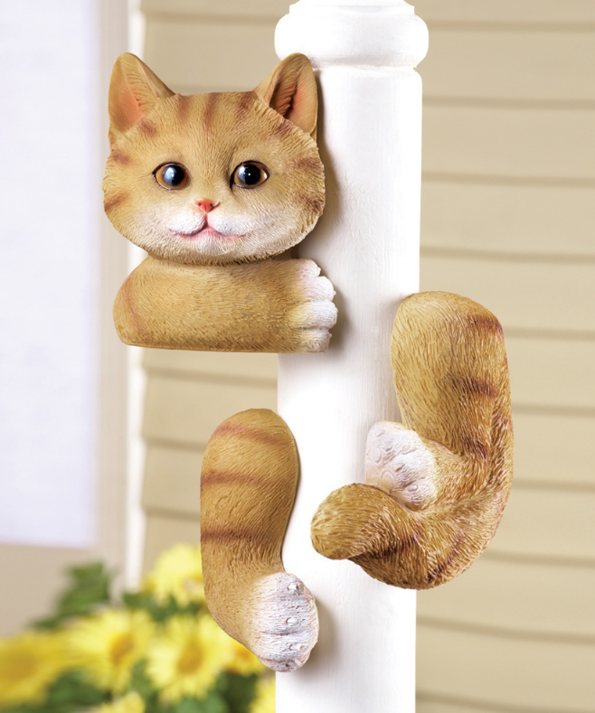 Image 0 of Kitty Tree Hugger Figurine