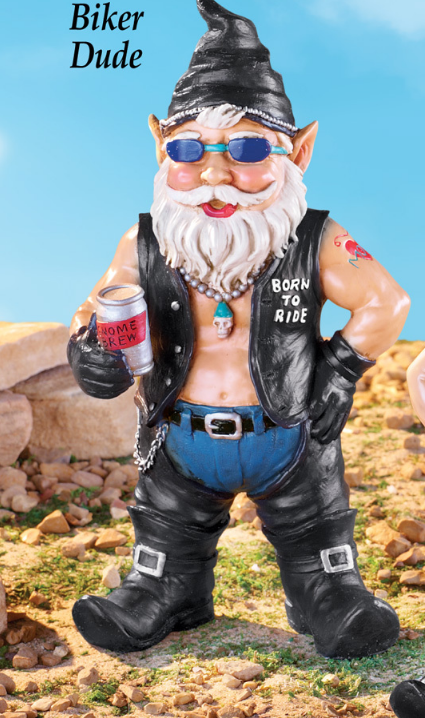 Image 0 of Biker Dude Garden Gnome