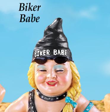 Image 1 of Biker Babe Garden Gnome