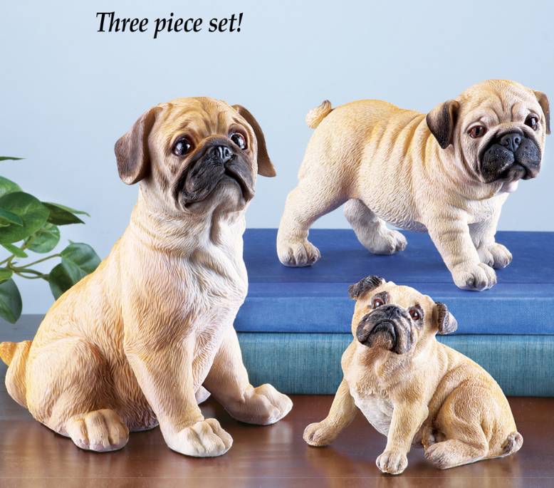 Pug Family Set Figurines