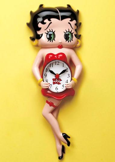 Image 0 of Betty Boop Animated Clock