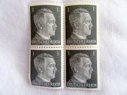 1944 Hitler Stamps Germany WWII