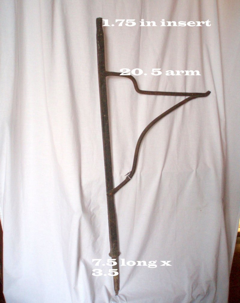 Image 4 of Fireplace crane antique hand forged iron hearth hardware