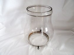 Antique Glass Chimney Lantern Globe Lamp Candle Sconce 10 In XXLG
