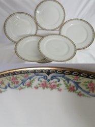 Theodore Haviland Limoges Schleiger 858 Plates set of 6