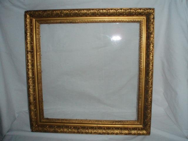 Picture Frame Square antique gold gilt gesso 19.5 inches